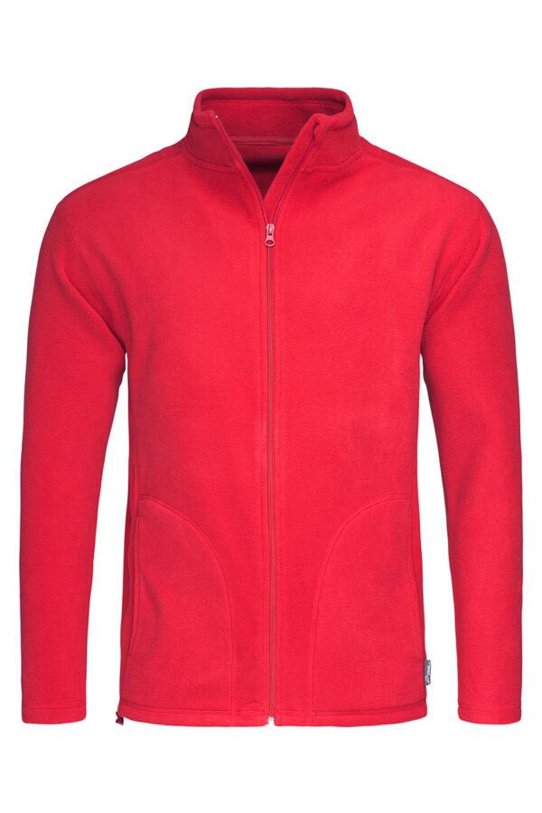 ST5030-SRE FLEECE JACKET чоловіча, Scarlet Red