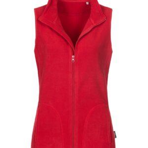 ST5110-SRE FLEECE VEST жіноча, Scarlet Red