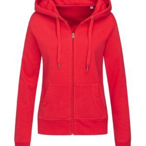 ST5710-CSR SWEAT JACKET жіноча, Crimson Red