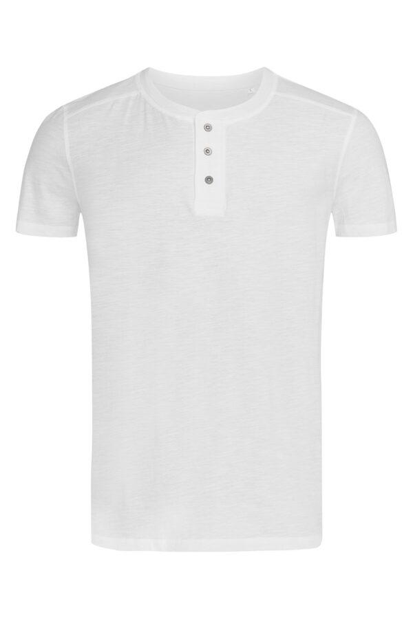 ST9430-WHI SHAWN HENLEY T-SHIRT чоловіча, White