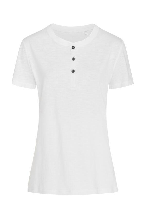 ST9530-WHI SHARON HENLEY T-SHIRT жіноча, White